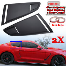 Pair Side Vent Window Scoop Louver Cover Trim Fit For Ford Mustang