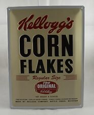 Superb Large Embossed Kellogg's Corn Flakes Tin Plate Wall Sign 40cm x 30cm NEW!