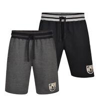 Mens KAM Gym Fleece Jogger Shorts Elasticated waist Running Zip Pocket 2-8XL