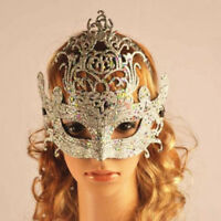 Crown Princess Mask For Women Masquerade Party Halloween Fancy Dress Half Face