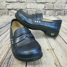Alegria Taylor Womens 36 Blue Clog Penny Loafers Work Career Casual Nurse
