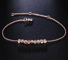 New Women's Fashion Jewelry 8 Bead Rose Gold Plated Anklet Bracelet 19-5
