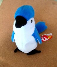 Ty Beanie Babies-Rocket The Blue Jay -Mint Condition-1998 P.E. Retired- Plush