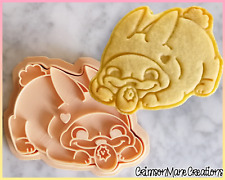 Easter Pug Cookie Cutter Easter Bunny Egg Biscuit Baking Supply Ceramics Pottery