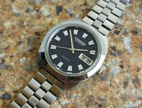 Vintage Citizen 28800 26 Jewels Automatic SSTI August 1971 7210 Kanji