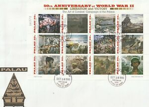 PALAU 18 OCT 1995 50th ANN OF WORLD WAR 2 OVERSIZED FIRST DAY COVER