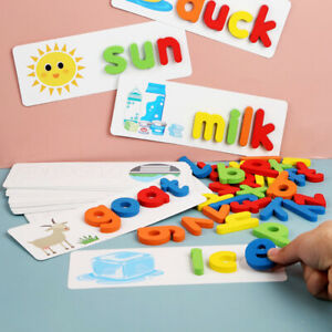English Alphabet Kids Spelling Game Toy Christmas Gift Educational Toys Word Box