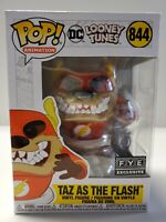 Funko POP EXCLUSIVE Taz as Flash #844 DC Looney Tunes Vinyl Figure