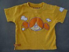 T-shirt jaune orangé brodé fillette 18 mois / 81 cm DDP super état proche NEUF