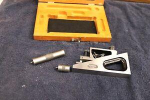 STARRETT No. 995 Universal Precision Planer Gage with Original Case (USA)