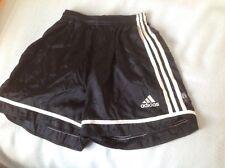 mens adidas 2003 vintage classic futbol soccer shorts medium black shiny silky