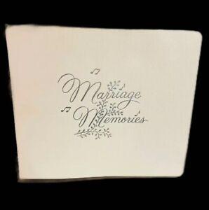 vintage wedding album 1958 50s wedding something old marrige memories white
