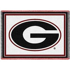 UGA UNIVERSITY OF GEORGIA Small Woven Logo Blanket / Throw