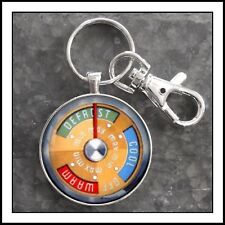 Vintage 1958 Ford Edsel Temperature Dial Graphic Photo Keychain