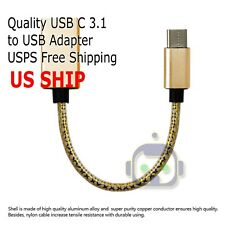 USB 3.1 Type C USB-C Male to USB 3.0 A Male Charge & Sync Cable Gold