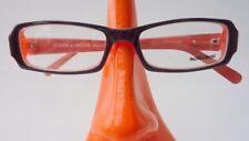 Brille Gestell schmal schwarz orange eyeglasses Damen Gestell Nahbrille size S