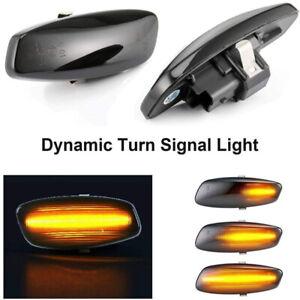 Dynamic LED Side Marker Blinker Lights For Peugeot RCZ 10-15 207 308 3008 5008