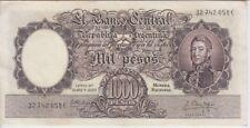 Argentina Banknote P274b Col 534d 1000 Pesos M/N Sig Fabregas-Mendez Delfino, EF