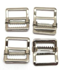 Nickeled Stainless Steel 1in Web Buckles fit up to 15/16in strap lot of 4  E2103