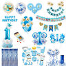 1st Birthday Foil Balloons Set Boy Baby Shower Hanging Party Decoration Supplies