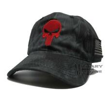 KRYPTEK Hat Cap Punisher Red Skull camo American Flag patch Outdoor Tactical