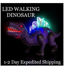 DINOSAUR Led Light Up Walking Realistic Dinosaur With Sound KIDS TOY 1-2 DAY S&H