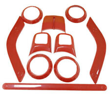 Full Set Interior Accessories Trim Kit For 2011-2017 Jeep Wrangler Unlimited Red