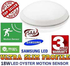 18W LED OYSTER LIGHT WITH IN BUILT Microwave Motion Sensor SMART SLIM DESIGN