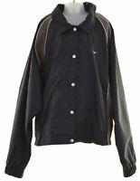 NIKE Boys Rain Jacket 12-13 Years Large Black Polyester Vintage IY20
