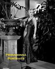 "CAROLE LOMBARD 8X10 Lab Photo B&W 1932 ""NO ONE MAN"" Sexy Elegant Shimmering Gown"
