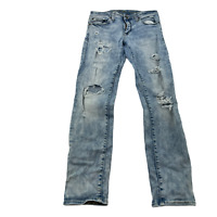 American Eagle Mens Skinny Jeans Light Wash Distressed 29X30 Next Level Flex