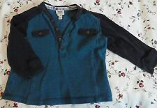 BAKER BABY BY TED BAKER LONG SLEEVE BUTTON FRONT T-SHIRT AGE 6-9 MONTHS