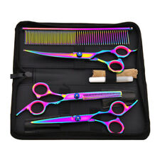 Professional Pet Dog Grooming Scissors Straight Curved Thinning Shears Kit Sets