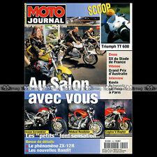 MOTO JOURNAL N°1392 SUZUKI GSF 600 BANDIT, VOXAN SCRAMBLER & BOXER-BIKE VB1 1999