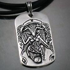 Baphomet LaVeyan Satanism Goat Devil Invert Pentacle Dimmu Borgir Pewter Pendant