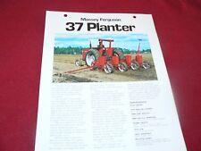 Massey Ferguson 37  Planters Dealer's Brochure 882AG/382/25-1