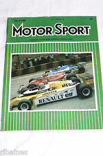 Motor Sport March 1980: Porsche 924 Turbo/VW Golf GTi/Lotus Esprit Turbo