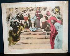 Rare 1929 Son Of Man Lobby Card Jesus Midland Films Tinted Passion Play