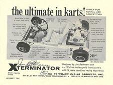 Vintage 1961 Rathmann Exterminator Go-Kart Ad