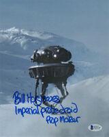 BILL HARGREAVES SIGNED 8x10 PHOTO PROP BUILDER LEGEND STAR WARS BECKETT BAS