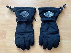 Harley-Davidson Herren Touring Gore Tex Handschuhe Schwarz L Large Winter Gloves