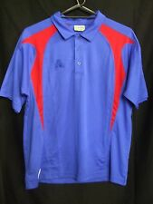 Lawn Bowls Polo Top, Short Sleeve, Royal Blue With Red Trim, Size Medium