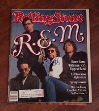 GFA Rock Band R.E.M. * MIKE MILLS * Signed Rolling Stone Magazine PROOF AD2 COA