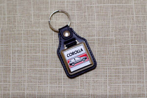 Toyota Corolla AE92 GT Keyring - Leatherette and Chrome Keytag
