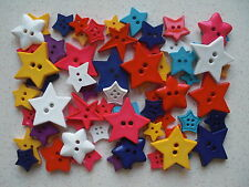 Star shaped buttons 50 grams mixed sizes and colours