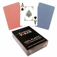 NEU - 12 X PREMIUM CASINO POKER KARTEN 100% PLASTIK -GROSSER INDEX - 2