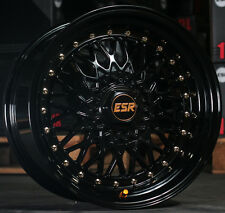 "17"" ESR SR03 Gloss Black Wheels 17x8.5 +30 5x100 For VW Jetta Golf (Rims Set 4)"