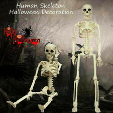 Poseable Full Life Size Human Skeleton Prop Halloween Terror Hanging Party Decor