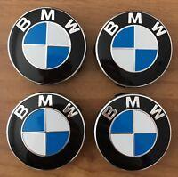 4 BMW Embleme Nabenkappen Nabendeckel Felgendeckel 2er F45 F46 ORIGINAL 56mm NEU
