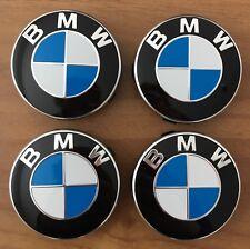4 BMW Embleme Nabendeckel Felgendeckel 36136850834 5er 7er X1 56mm NEU ORIGINAL